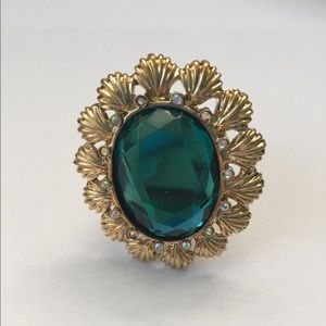 Betsey Johnson Teal Mermaid Stretch Ring